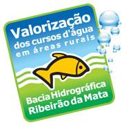 Marca programa valorização de cursos d'água no Rib da Mata